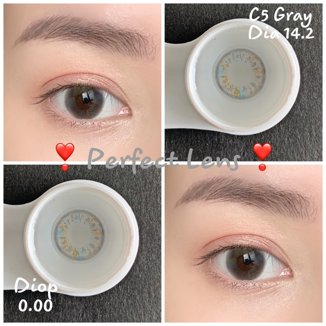 Link 2 (Giá 1 Chiếc) 14.2 (0.00->8.00) Lens C5 Gray – Kính Áp Tròng