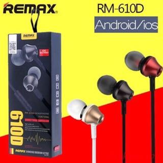 [Mã ELFLASH5 giảm 20K đơn 50K] Tai nghe Remax RM-610D dòng tai nghe dây - Tai nghe có mic với dây dài
