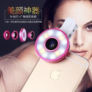 Lens điện thoại 3 in 1 có đèn Led