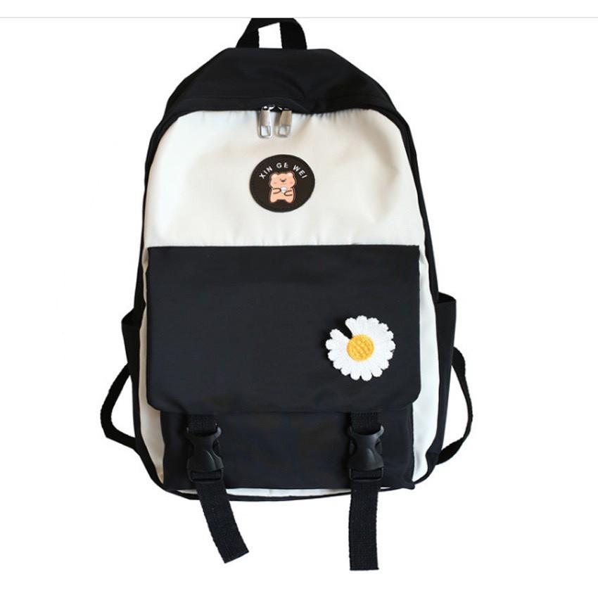 Ba lo hoa cúc đẹp đi học, du lịch đi chơi laptop thời trang BL31 tiện dụng
