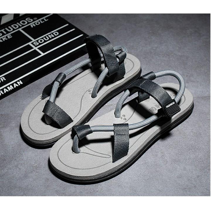 Sandal nam nữ mùa hè - đi du lịch - 2 màu đẹp Đen , Xám