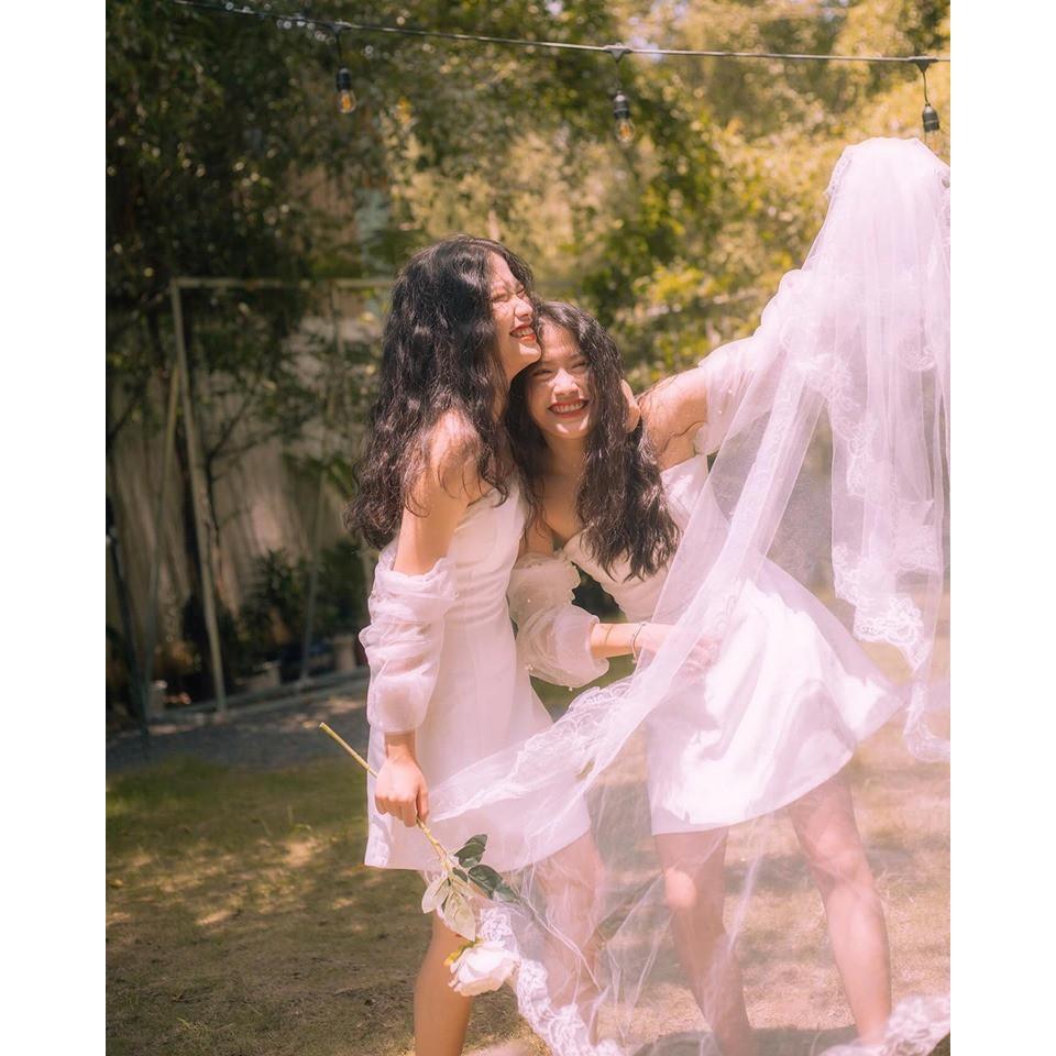 Mặc gì đẹp: Sang chảnh với Đầm dự tiệc trắng ôm body tay phối lưới đính hạt sang trọng bậc nhất Vani Dress