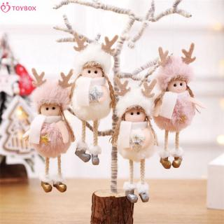 Baby Christmas plush angel charm children cute doll Christmas tree pendant puzzle toys
