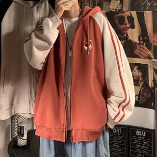 [COD&ready stock] Áo khoác có nón bằng vải nhung phong cách học đường cho cả nam và nữ