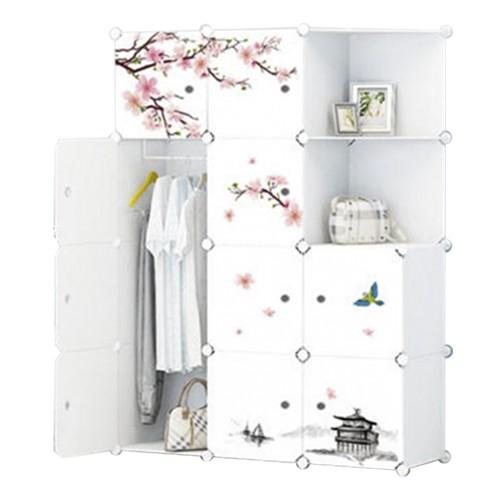 Tủ quần áo nhựa lắp ghép Tâm house 12 ngăn