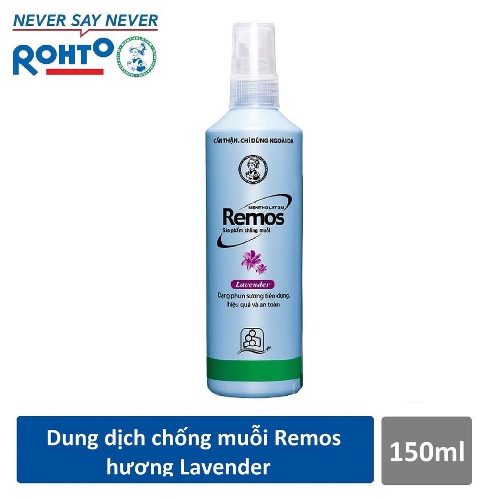 Dung dịch chống muỗi Rohto Metholatum Remos Hương Lavender 150ml