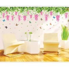 Decal dán tường chùm hoa rủ ngang