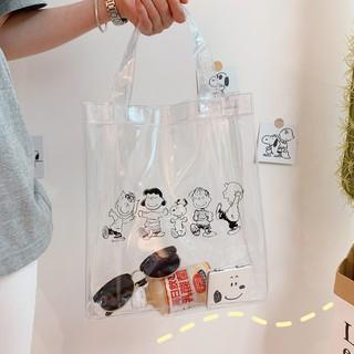 Sale 70%  Túi xách trong suốt chống nước cỡ lớn in hình snoopy, colorful snoopy tote bag Giá gốc 90,000 đ - 92B10