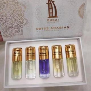 Set 5 chai Tinh dầu nước hoa Dubai
