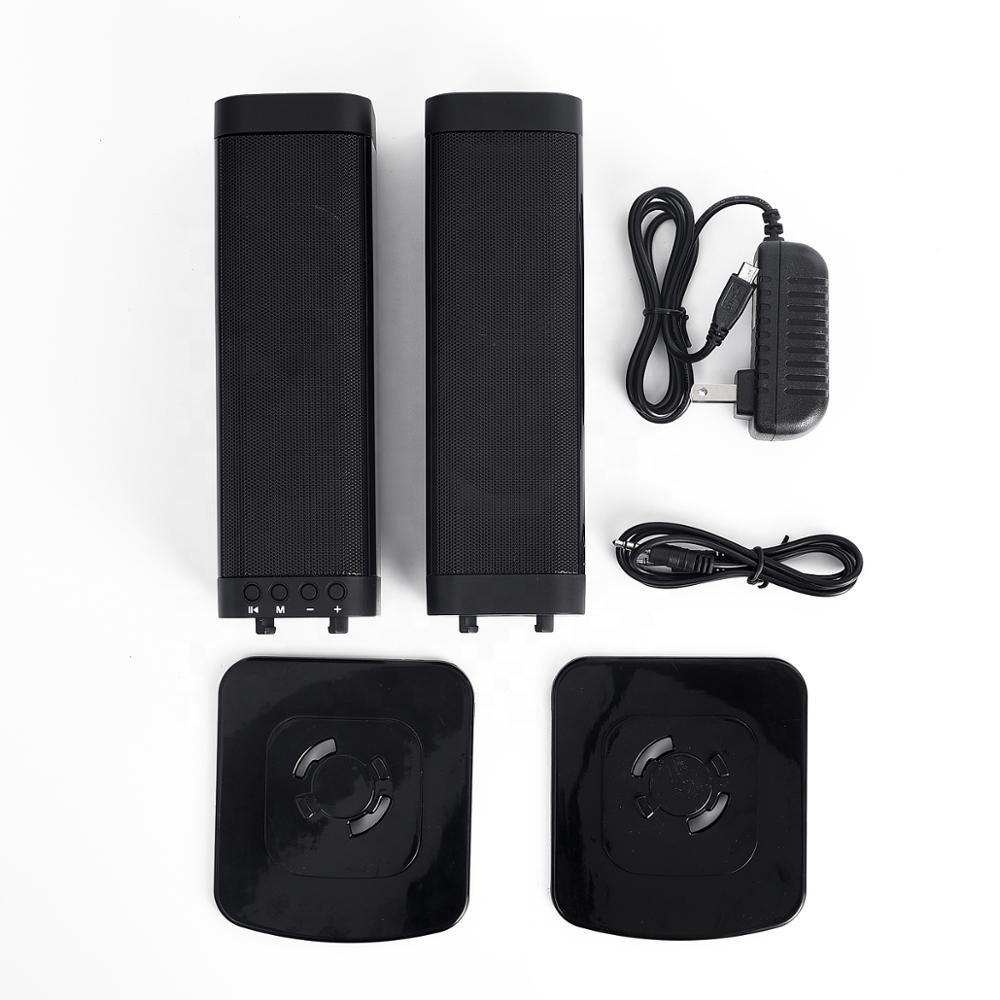ลำโพงมินิซาวด์บาร์เสียงดี 2 ท่อน ลำโพงบลูทูธ BT5.0 ไม่มีดีเลย์แน่นอน Soundbar speaker รุ่น BKS-33 ขนาด 20W ลำโพง 4 ดอก