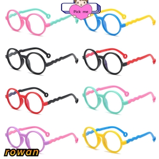 ROW Age 3-10 Blue Light Glasses for Kids Silicone Frame Computer Gaming Glasses Blue Light Blocking Glasses Anti-eyestrain UV400 Protection Soft for Boys Girls TV Phone Glasses
