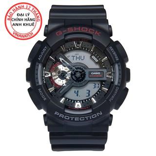 Đồng hồ Nam G-Shock Casio dây nhựa kim-điện tử GA-110-1ADR - Chính hãng Casio Anh Khuê thumbnail