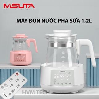 [CÓ ĐIỀU KHIỂN + BH 9 THÁNG] Máy đun nước siêu tốc hâm nước pha sữa giữ nhiệt liên tục thông minh MISUTA