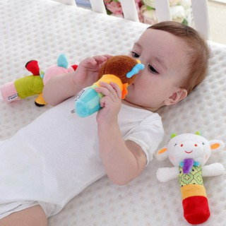 17cm Baby Rattles Mobiles Rattle Ring Bell Toys Early Educational Doll