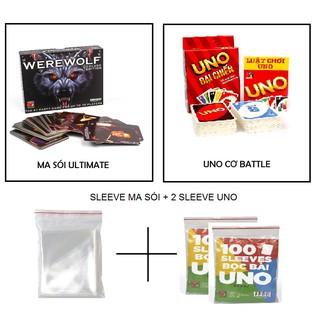 Combo Ma Sói Ultimate + Uno Battle + 1 Sleeve Ma Sói + 2 sleeve Uno