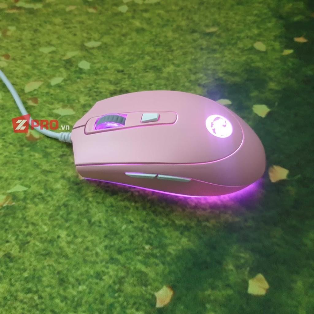 Chuột Gaming E-Dra EM614 RGB LED, MÀU HỒNG -BH 24 THÁNG TOÀN QUỐC I Gaming Mouse EDra EM614 RGB, pINK