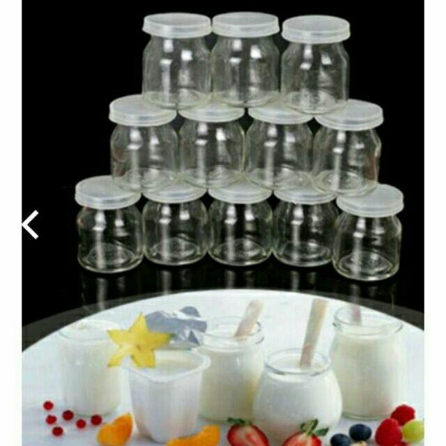Sỉ 12 chiếc hũ thủy tinh đựng sữa chua (45k/12 hũ)