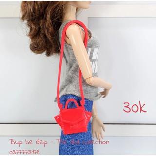 Túi xách cho Barbie quai dài màu đỏ