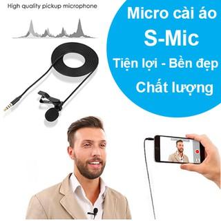 Micro cài áo thu âm loại tốt S-Mic ghi âm, làm youtube công nghệ giảm ổn, giảm hú tiện lợi chất lượng