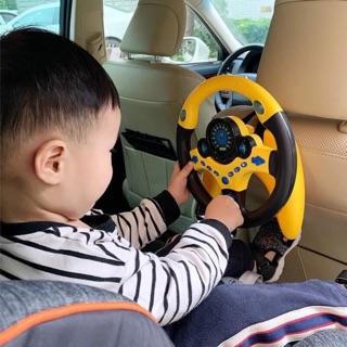 (Về thêm) Vô lăng xe hơi có nhạc cho bé, màu vàng