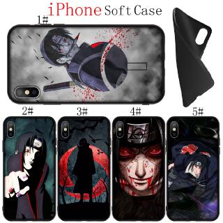 iPhone 11 Pro X XR XS Max 6 6S 7 8 Plus Soft Silicone Phone Case Japanese Anime NARUTO Itachi