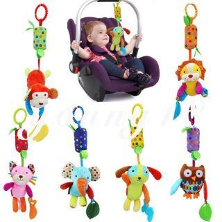 Hanging Bell Animal Cartoon Soft Baby Bed Stroller Plush Musical Mobile