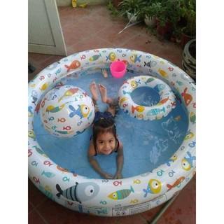 Set 3 món bể bơi phao bơi bóng cho bé