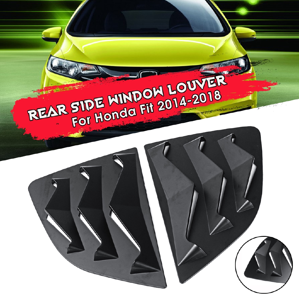 Pair Quarter Window Louver Cover Side Air Vent Outlet For Honda Fit 2014-2018