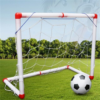☆VN Indoor Folding Football Soccer Ball Goal Post Net Set Kids Sport Outdoor Toys