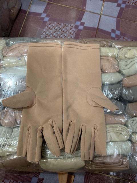 combo 10 đôi găng màu cắt 5 ngón nữ