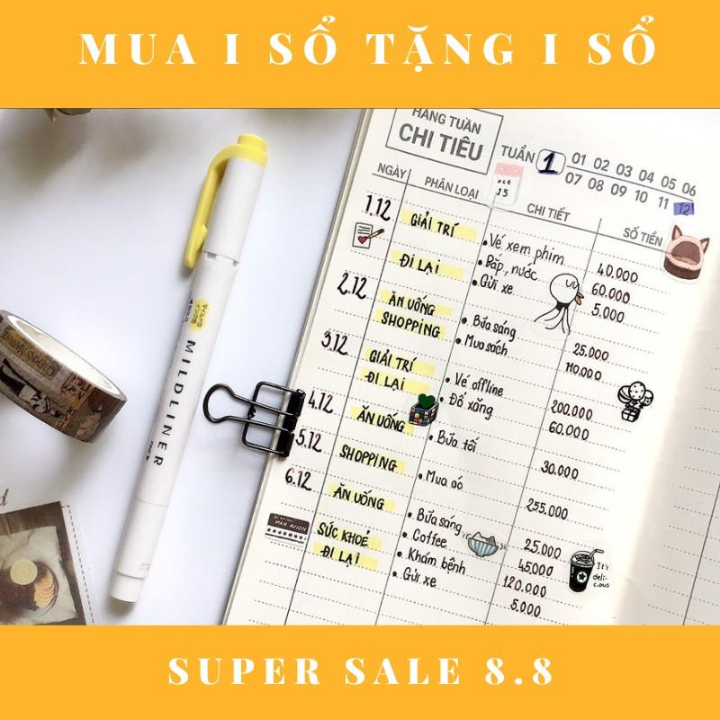 Sổ tay giữ tiền tài chính cá nhân, thu chi, tiết kiệm, bìa mềm, 60 trang, 21x11, dập ghim