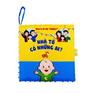 Sách vải Lalala Baby – Nhà tớ có những ai – Sách song ngữ, Made in Vietnam