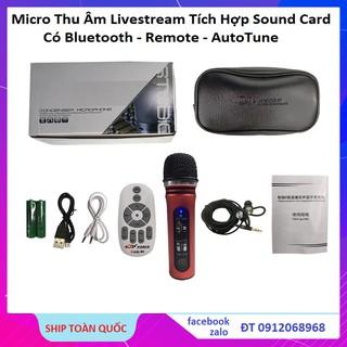 Micro Thu Âm Karaoke Livestream ATK10 - Tích Hợp Sound Card K10 Thế Hệ Mới 2020