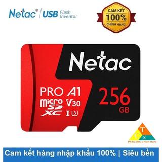 Thẻ nhớ Netac 256GB Pro Micro SDXC TF Memory Card Data Storage V30/UHS-I U3 High Speed Up to 100MB/s