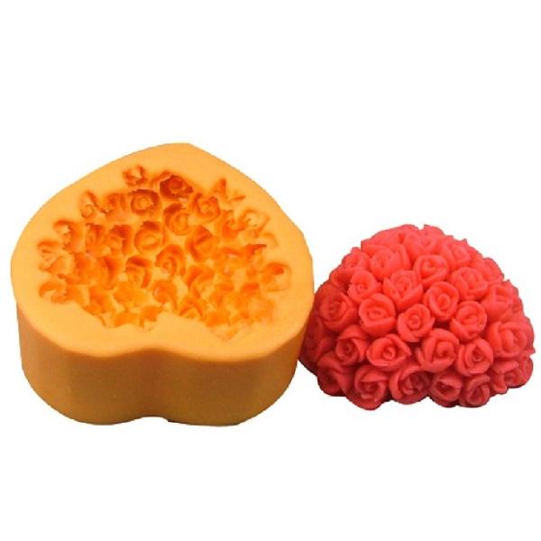 Khuôn silicon làm bánh đa năng tiện dụng hình hoa hồng xinh xắn