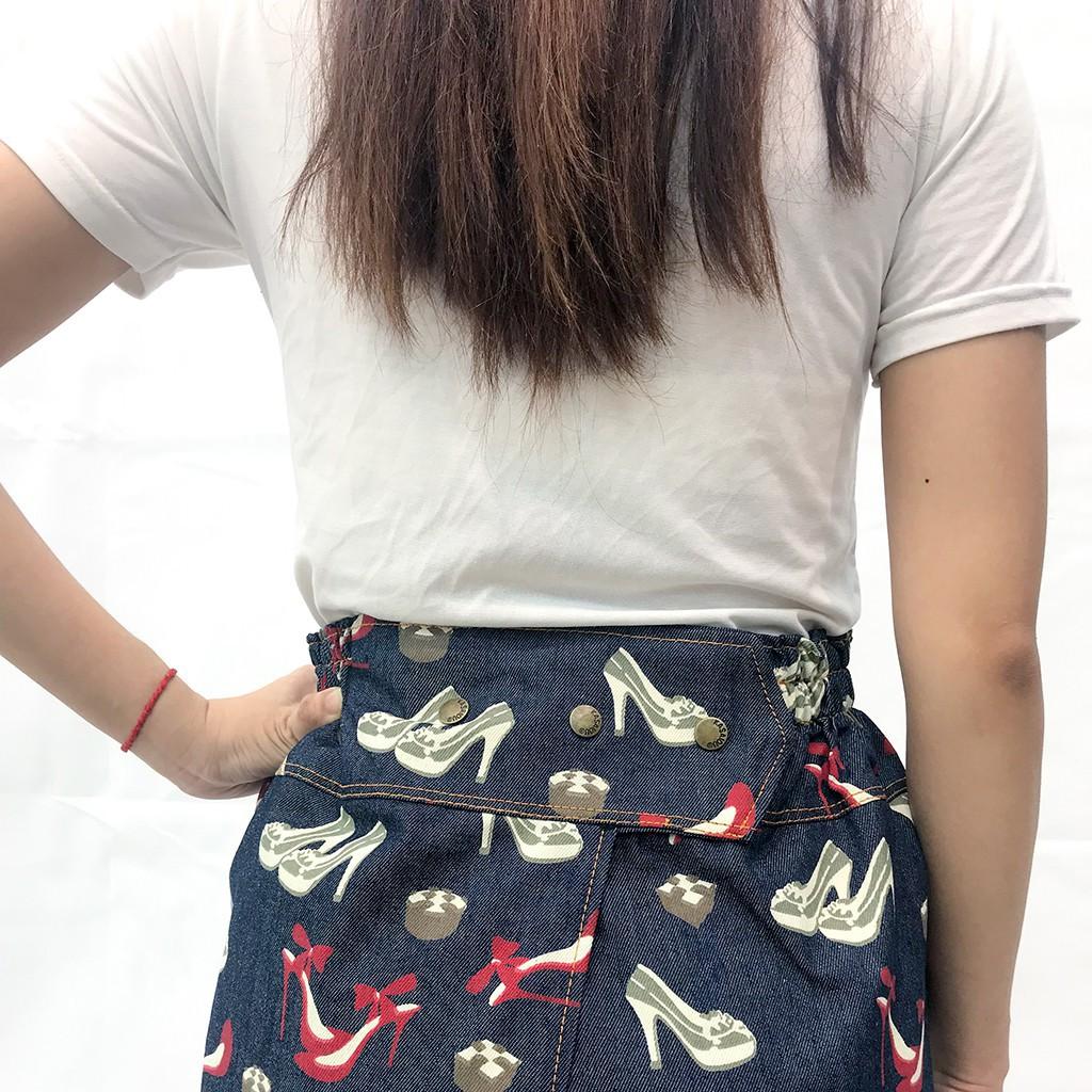váy chống nắng jean hoa văn xẻ trước cố định bằng khuy VJXT0048-VCN | BigBuy360