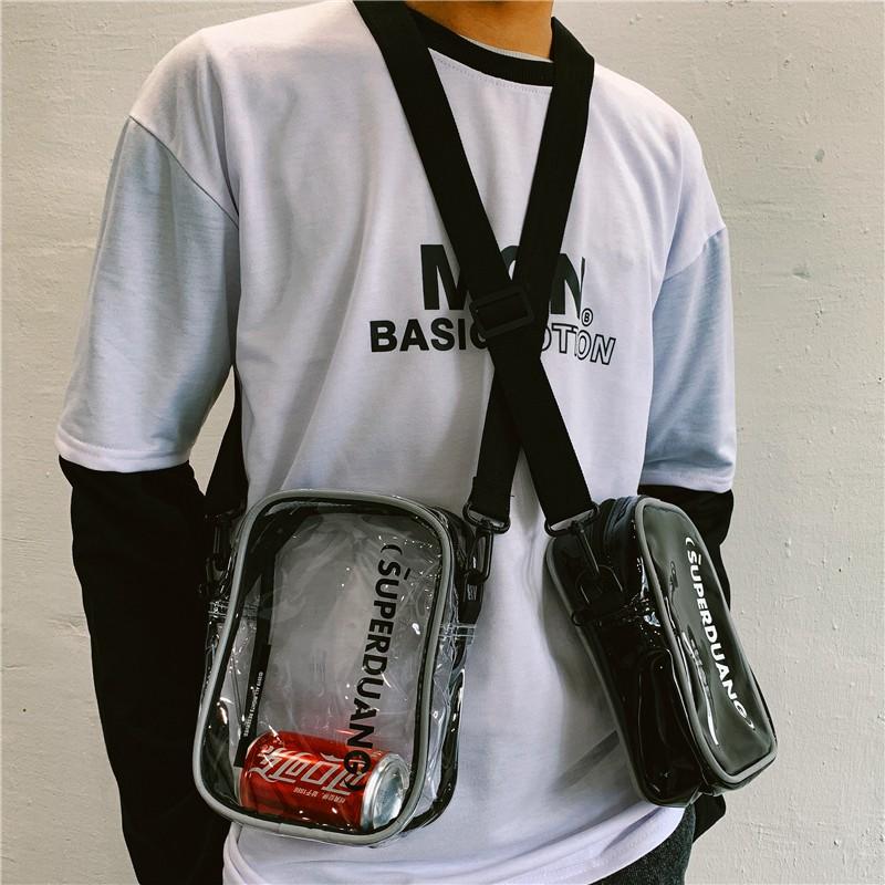 orts women's shoulder bag personality reflective hip hop bag street trend 蹦迪包