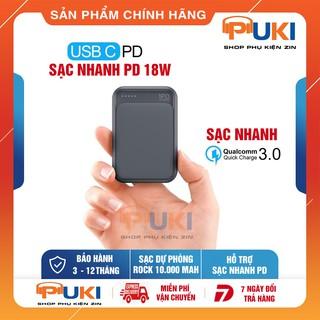 Sạc Dự Phòng ROCK Mini 10.000 mAh Hỗ Trợ Sạc Nhanh PD Và Quick Charge 3.0
