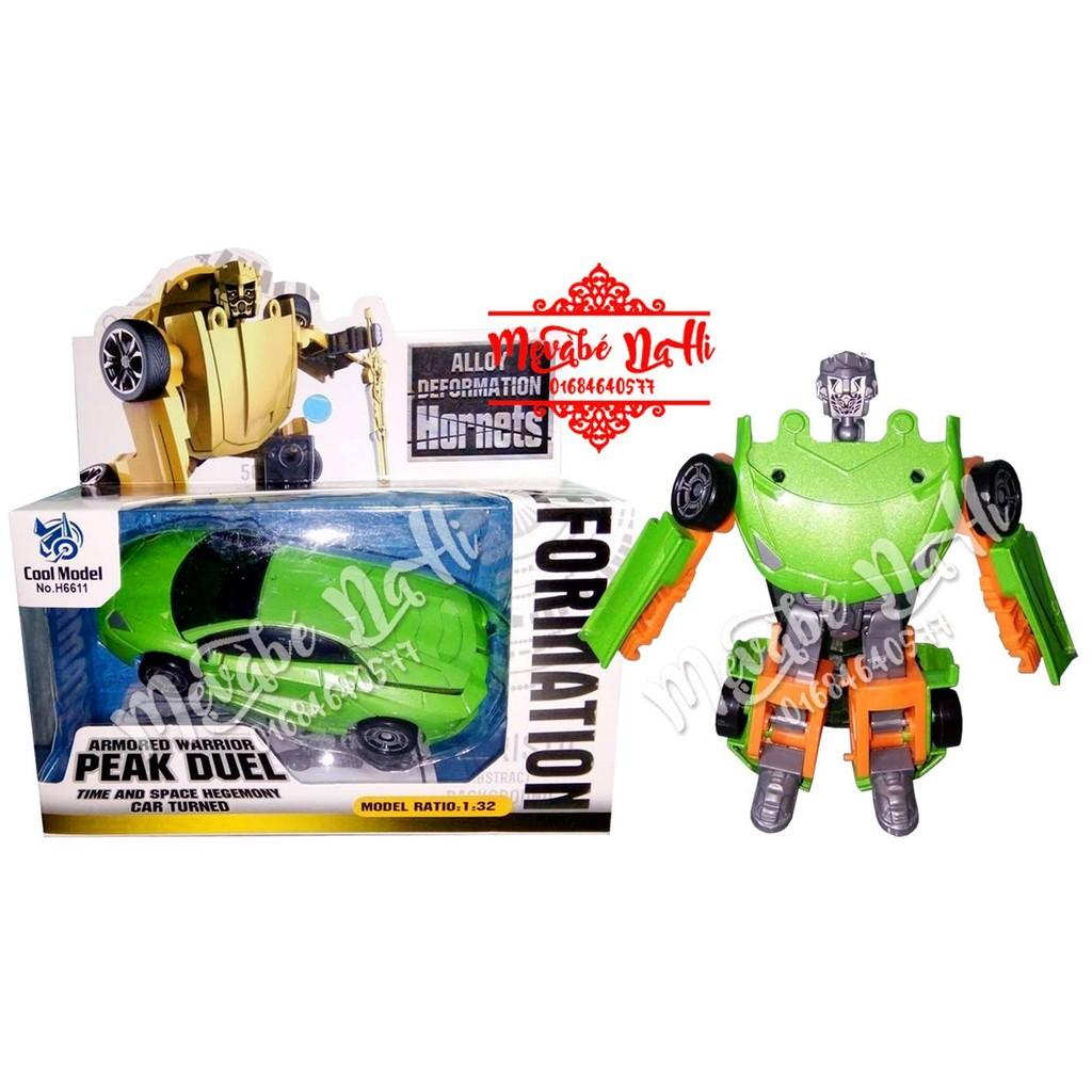 Xe sắt biến hình Robot Cool Model H66.11 - Raptor (Xanh lá)