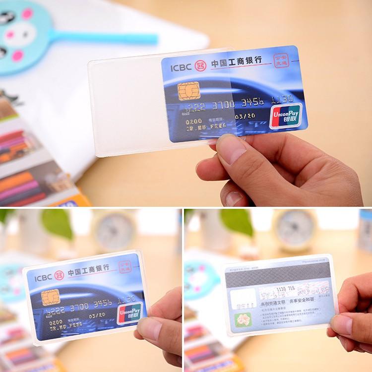 BỘ 8 vỏ bọc thẻ căn cước thẻ tín dụng trong suốt (VBT08)