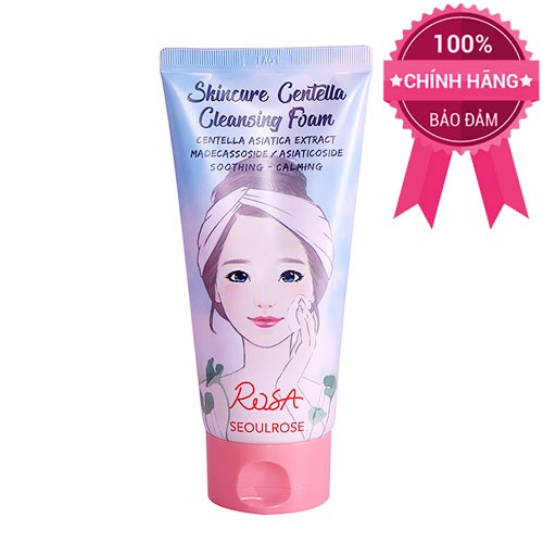 Sữa Rửa Mặt Rau Má Seoulrose Rosa Skincare Centella Cleansing Foam 120ml