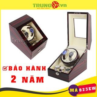 Hộp Đồng Hồ Cơ 2 Xoay 3 Tĩnh Vỏ Gỗ Sơn Mài (Đèn LED) - Mã 823EW thumbnail