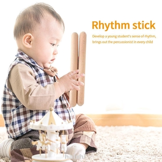 8pairs Accessories Orff Classical Percussion Instrument Teaching Aids Home School Natural Hardwood Rhythm Sticks