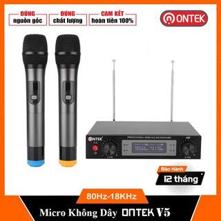 Bộ Micro KARAOKE không dây Chính hãng Ontek E6 E8 MV01 VS316 - Chuyên Dụng cho Loa kéo, amply, gia đình - Bảo hành 1 thumbnail
