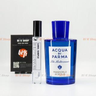 Bi K Shop - Nước hoa unisex Acqua di Parma Blu Mediterraneo - Mandorlo di Sicilia {Mẫu thử]