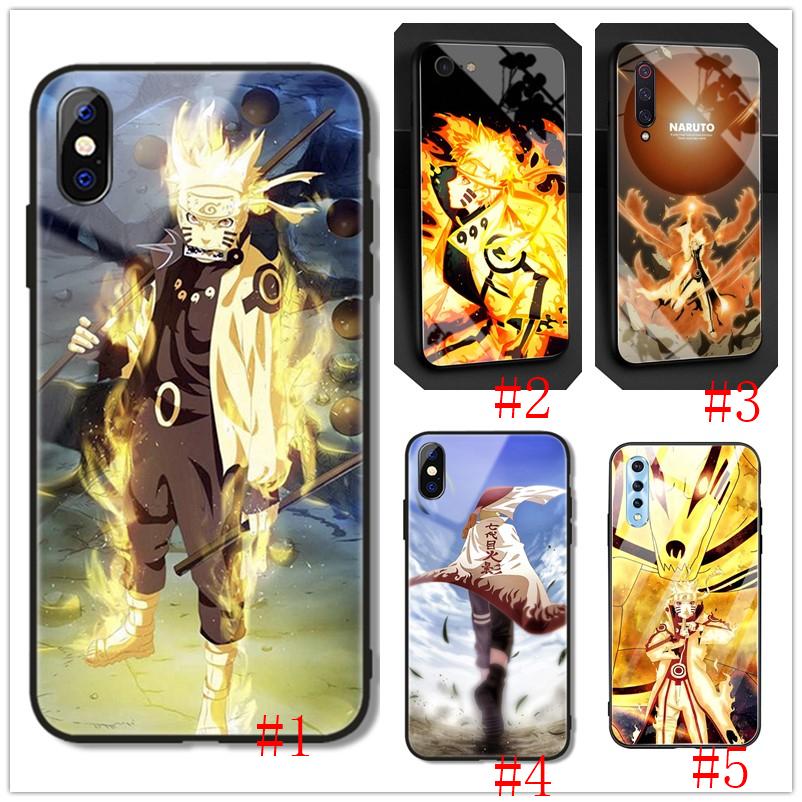 Ốp Điện Thoại Kính Cường Lực Hình Uzumaki Naruto Cho Xiaomi Redmi 4a 4x 5a 5 Plus 6 Pro 6a 7a 7