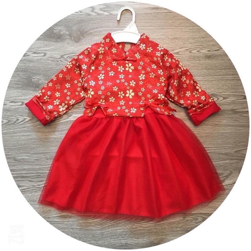 combo 2 váy đỏ và nâu của bichtram