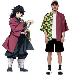 Cosplay Coat Áo khoác hóa trang Kimetsu no Yaiba Kamado Tanjirou anime Demon Slayer cho nam