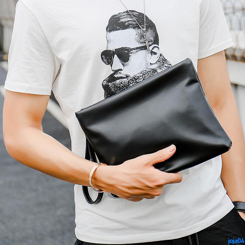 Full order 250000 shipmentsSoft leather fashion men's clutch bag Chaoyang simple fashion handbag Korean version of the e