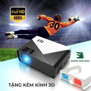 Máy chiếu KHỦNG LONG XANH T1080 hỗ trợ hd+,kết nối không dây với latop,hdmi, vga, av, tivibox, điện thoại... thumbnail